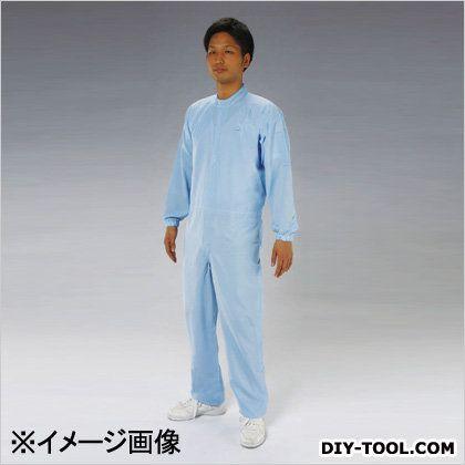 クリーンルーム用清涼継ぎ服(センターファスナー) 青 LL EA996DF-3