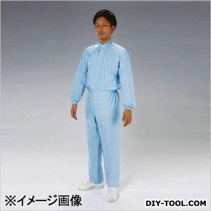 クリーンルーム用継ぎ作業服(サイドファスナー) 青 LL EA996DB-13