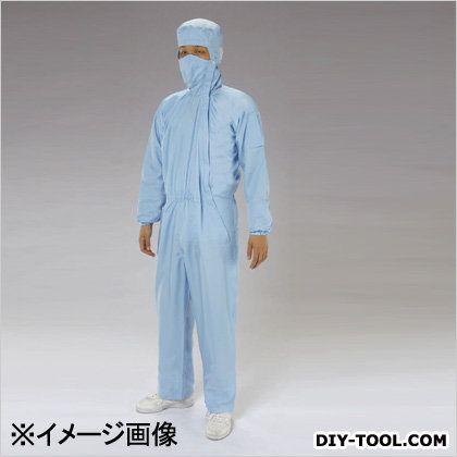 クリーンルーム用フード付継ぎ服(サイドファスナー) 青 M EA996DC-11
