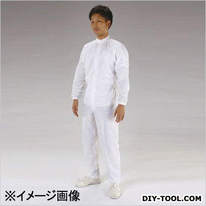 クリーンルーム用継ぎ作業服(センターファスナー) 白 M EA996DD-1