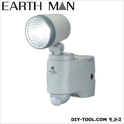 アースマン(高儀) 乾電池式LEDセンサーライト シングル  135×68×180(mm)※本体 SLT-100
