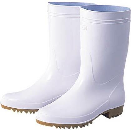福山ゴム 耐油衛生長アメ底白25.0c (TEA-25.0) (×1)   TEA25.0   耐油・耐薬品用安全靴 安全靴
