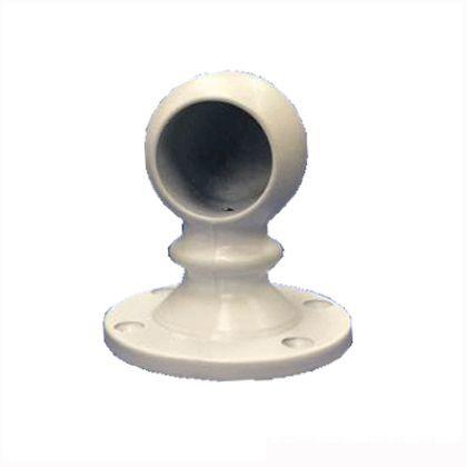 ホワイトブラケット  φ32止 ホワイト塗装 69x62mm 30195