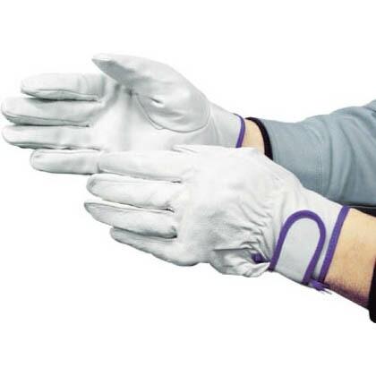 作業用革手袋 EX-232  白 L (5912)