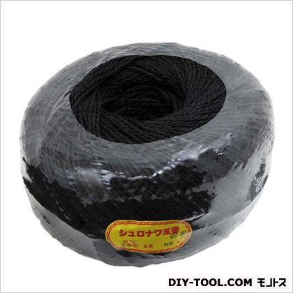棕梠縄 玉巻 黒 3X500