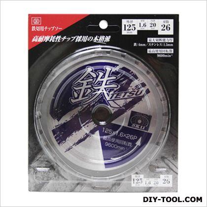 鉄TETSU 鉄切チップソー   125X1.6X26P