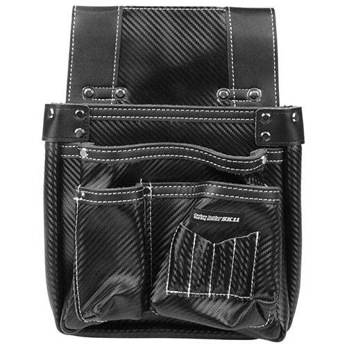 カーボンレザー釘袋 ブラック  SK-CLK-BPブラック