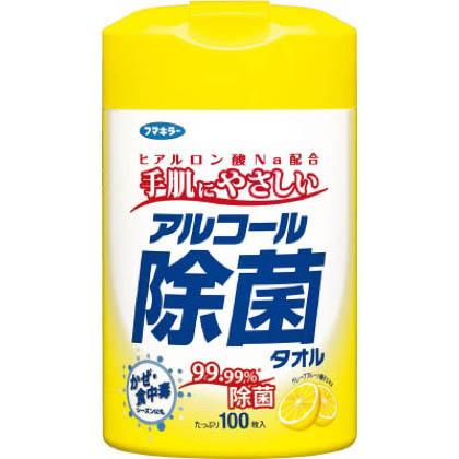 フマキラー フマキラー アルコール除菌タオル100枚入 433739 1個   433739 1 個