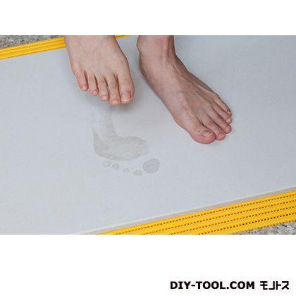 珪藻土マット 足乾バスマット ホワイトグレー 長さ430×高さ10×幅550mm 4943068450102  個