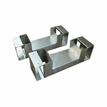 薪収納ラック金具L-340 (1組)  95X95X340(mm) F1234
