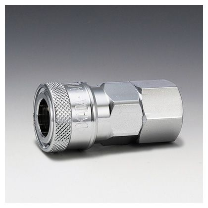 フローバル エアーカップラー ソケット メネジ型 (SF)  適用メネジ(Rc):1/4 K22-SF