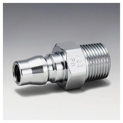フローバル エアーカップラー プラグ オネジ型 (PM)  適用オネジ(R):1/4 K22-PM
