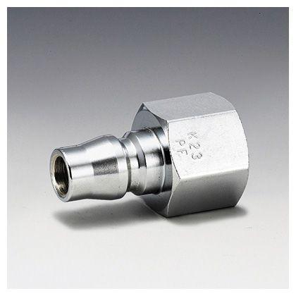 フローバル エアーカップラー プラグ メネジ型 (PF)  適用メネジ(Rc):1/4 K22-PF