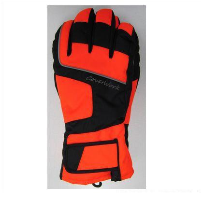 布施商店 FT-3570 防水防寒手袋 スマホ対応 蛍光オレンジ L (172988) 作業用手袋 手袋