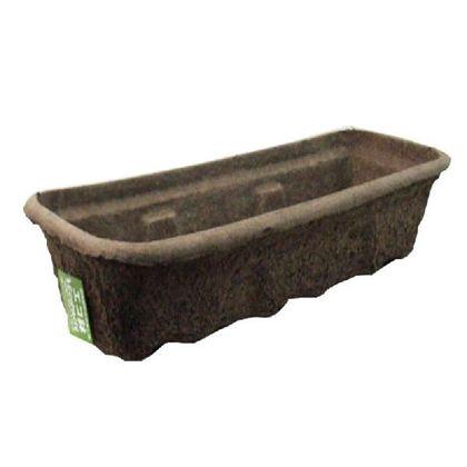 エコ鉢プランター 茶 W59×D20×H13cm PPWBOX
