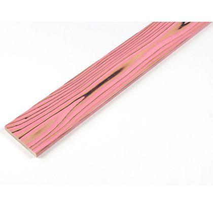 カラーリング天然杉 「UROCO」 サネ無し 焼杉 ピンク S12×95×480mm Y5