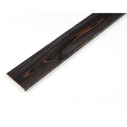 カラーリング天然杉 「UROCO」  サネ無し 焼杉 ブラック S12×95×480mm Y10