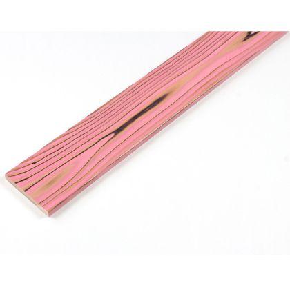 カラーリング天然杉 「UROCO」 サネ無し 焼杉 ピンク SS(12X95X230mm) Y5