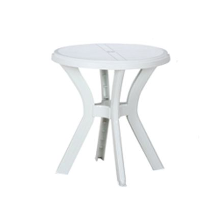 PC ラウンドテーブル アンジェロ ホワイト 670×670×730