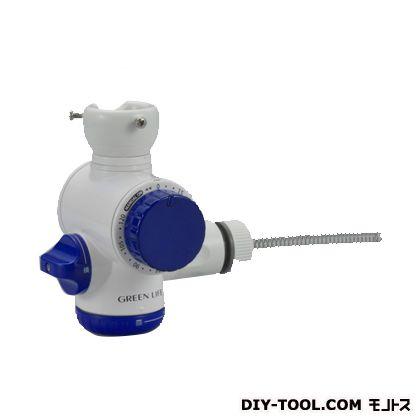グリーンライフ シャワー付き散水タイマー二又タイプ ブルー 幅13.5奥行13.5高さ9(cm) SJC-04T