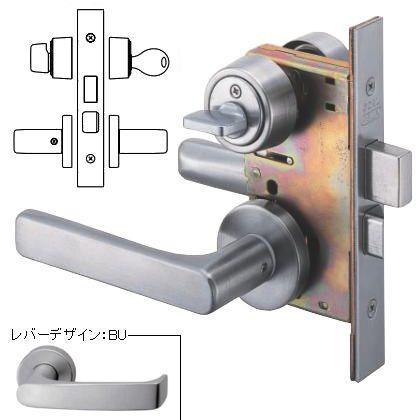 レバーハンドル錠 玄関錠 シリンダー/サムターン アルマイトシルバー  P-LX-5-BU-40A DT33-43 BS64