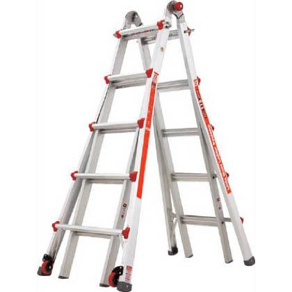 ハセガワアルミ合金製伸縮式はしご兼用脚立   LG-10303