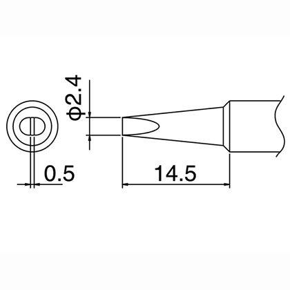 FX-600/FX-888用こて先   T18-D24