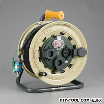 防雨型サンタイガーレインボーリール 漏電遮断器 アース付 (屋外用) (BX-331K)