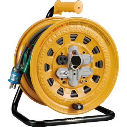 ハタヤ温度センサー付コードリール単相100V20mアース・ブレーカー付  幅×奥行×高さ:307×213×367mm BG-201KXS