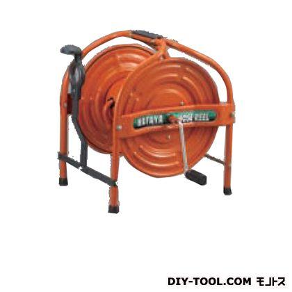 ハタヤ/HATAYA テツノホースリール オレンジ 幅×奥行×高さ:424×429×405mm HSA-0N-O   リール付きホース 散水・潅水用ホース