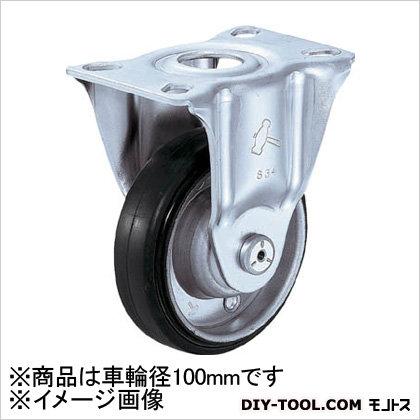 キャスター 2S型 固定 ゴム車 新型  100mm 420SR1R100BAR01