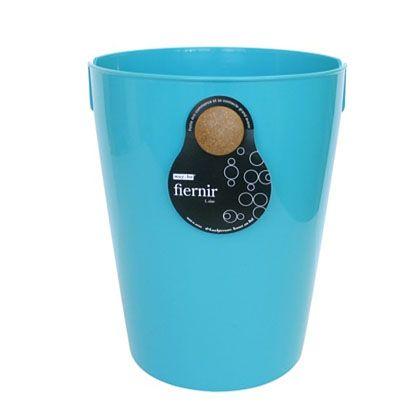 八幡化成 ごみ箱 fiernir フェニール L ターコイズブルー 約W24.5×D28.7×H30(cm) 213387