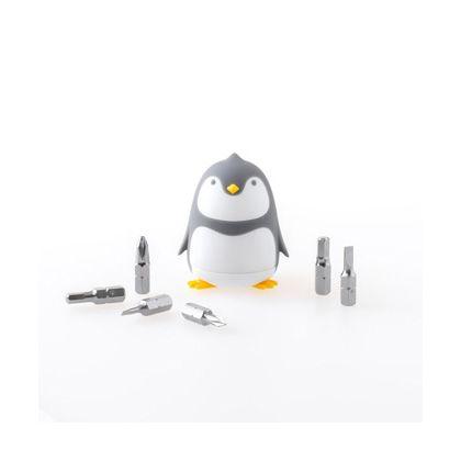 DRV ペンギン 差替え式アニマルドライバー  ビット8個付き グレイ  HM-2640  セット