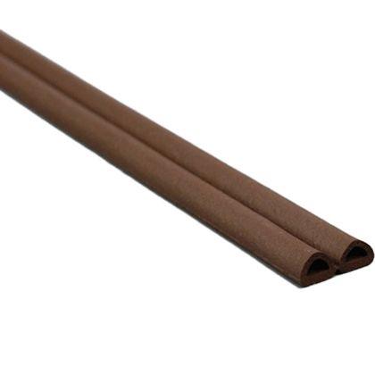 D型戸当防音テープ 茶 6.0mm×9.0mm×50m KDT89-50