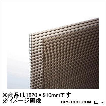 ポリカ中空ボード ブラウンスモーク 1820×910×4mm (KTP1894W2)