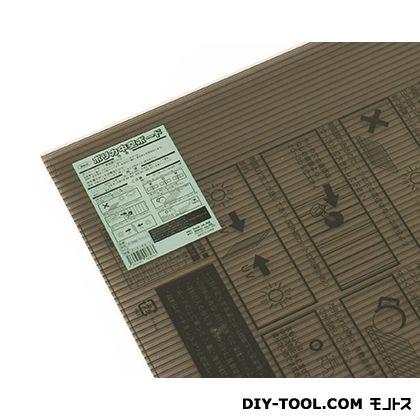 ポリカ中空ボード ブラウンスモーク 910×1820×6mm KTP1896W-2  0
