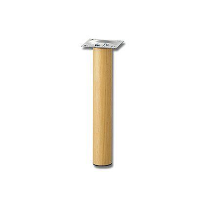 家具用丸脚(1本) 木製  32.8×200mm KSW-3320  0