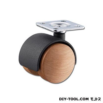 木製双輪キャスター  40mm KWW-40T  0