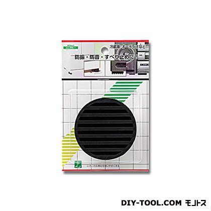 防振ゴム 黒 70丸×10mm厚 (WG00-701   )