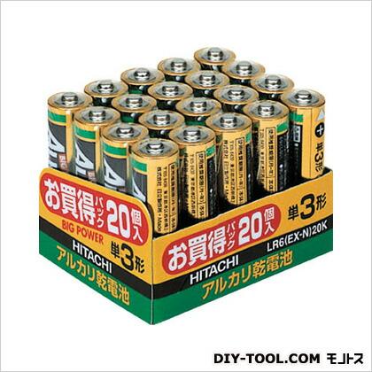 アルカリ乾電池単3形(20本入)   LR6EXN20K 20 本