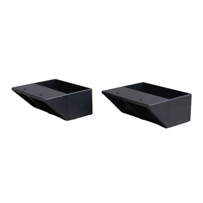 2×4材専用棚受 シングルタイプ マットブラック(限定色)  DXK-2 2 個入