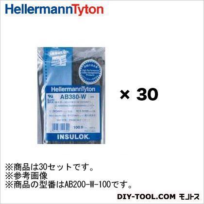インシュロックタイ ABシリーズ 黒   AB200-W 100 本×30