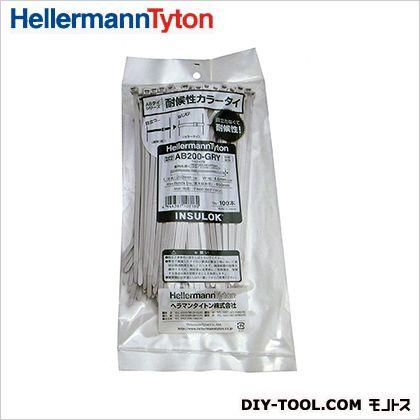 インシュロック 耐候・耐熱グレード グレー 202mm (AB200-GRY) 100本