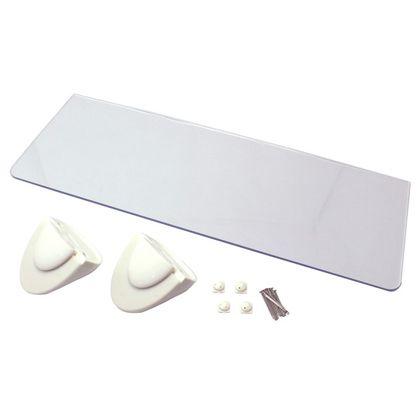 石膏ボード用アクリル板シェルフ  350mm 58572