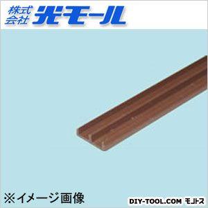 ガラス戸レール5下 ブラウン 17×4.5×1000(mm) 126