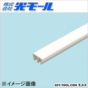 ホワイトガラス戸レール3上 ホワイト 14×9×1000(mm) 133