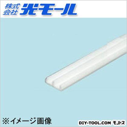 ホワイトガラス戸レール3下 ホワイト 14×4.5×1000(mm) 134