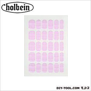 ホルベイン画材 チェルシー フィルムマニキュア FM-12 チェック ピンク   1 枚