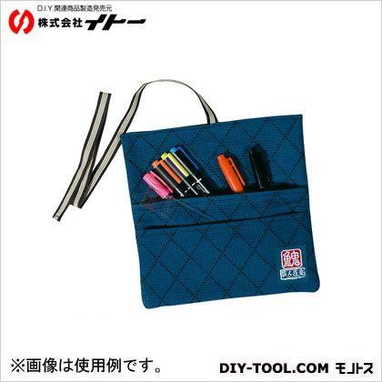 イトー 職人道楽 武州織道着刺子ペンケース 藍  約H120×W205×D10mm 094919