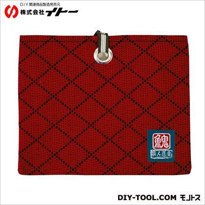 イトー 職人道楽 武州織道着刺子ペンケース袋 赤  約H90×W220×D15mm 094924